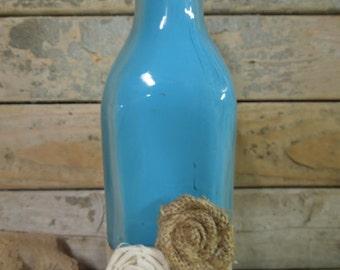 Upcycled Decorative Glass Bottle