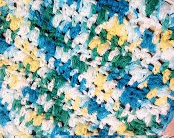 Puff Stitch Dishcloth