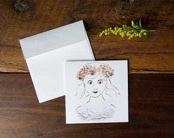Lisa Marie - Flower Art Greeting Card