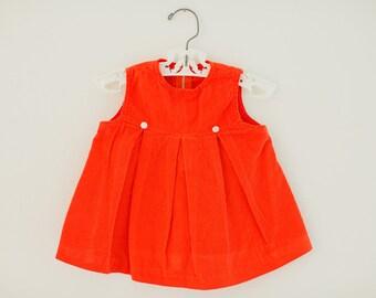 Vintage Red Corduroy Dress
