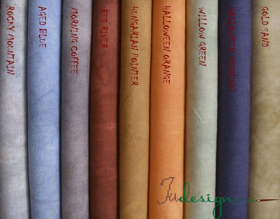 Count willow green hand dyed linen for cross stitch