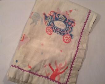 Vintage Circus Baby Blanket