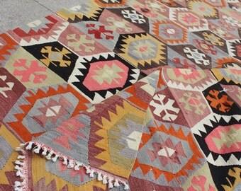 Kilim rug vintage kilim rug 10x5 ft