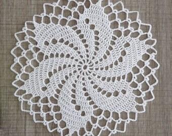 DOILY lace Crochet 19 cm white (Lola)