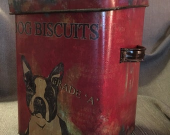 French Bull Dog Biscuit tin