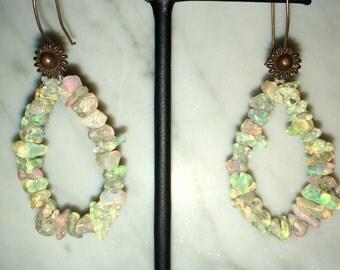 Ethiopian Opal Nugget Earrings