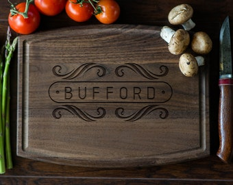 Personalized Cutting Board, Engraved Cutting Board, Custom Monogram, Wedding Gift, Housewarming Gift, Anniversary Gift, Christmas Gift #3057