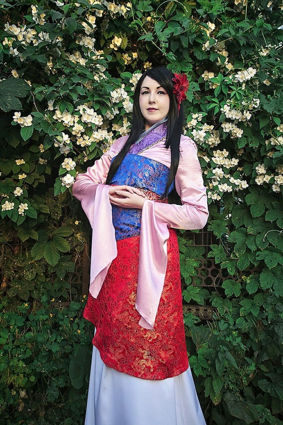 Disney cartoons Character Mulan cosplay kimono
