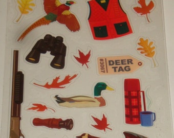 NEW ~  Scrapbook Stickers Hunting Pheasant Duck Hunting Embellishments