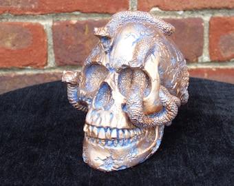Hand Painted Medusa Snake Skull