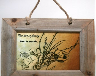 True Love Framed Driftwood Picture