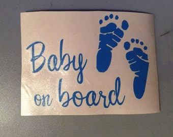 Baby on Board vinyl decal!