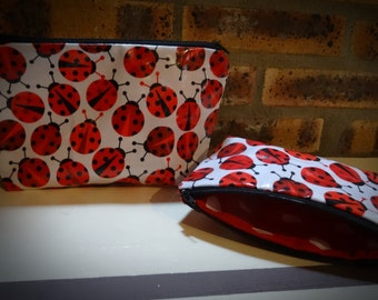 Kit - pouch ladybugs large format (the big one)