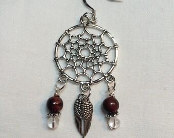 Red Tigereye Dreamcatcher earrings