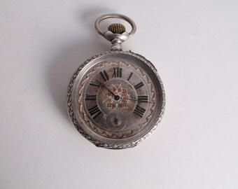 Antique Old Swiss Made Regulateur Big Size Pocket Watch.