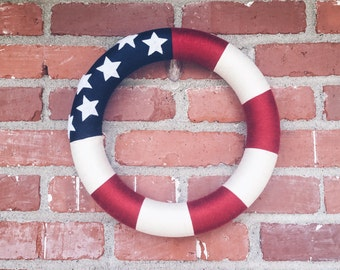 Fourth of July, Red, White and Blue Wreath