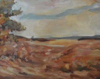 Original Fall Landscape Painting, oil on canvas, 24x18""