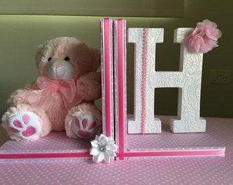 Personalised bookends, childrens bookends