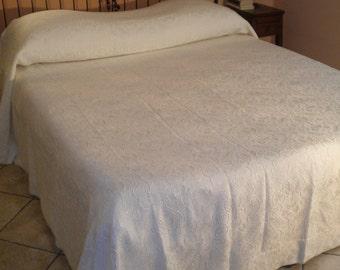 Double jacquard cotton blanket