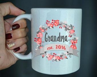 Grandma Established Coffee Mug - Pregnancy Announcement Gift