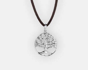 The Tree of Life Circle Pendant, 925 Sterling Silver