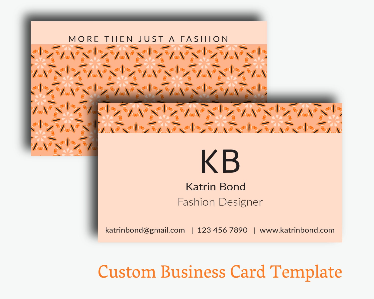 Business Card Template Pages