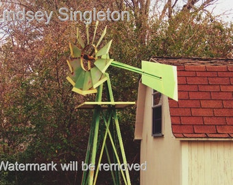 Garden Windmill - Photography - Digital Download