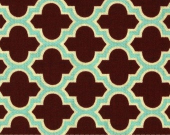 Joel Dewberry Fabric SALE, Aviary 2 Collection, Lodge Lattice in Caramel Brown - 1 FAT QUARTER