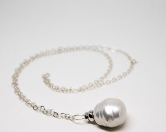 Silver chain and pendant