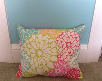 Colorful flower pillow