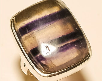 amethyst sage RING Solid Sterling Silver