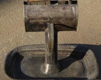 Antique Tin Grease Lamp