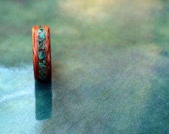 Mahogany wood ring