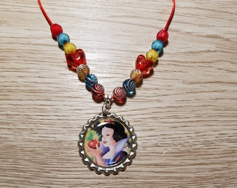 8 Kits - Snow White Necklaces DIY Party Favors
