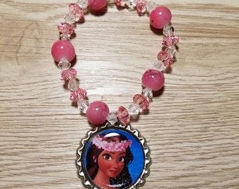10 - Pink Bracelets Party Favors - Princess Moana