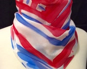 Red, White, and Blue Silk Bandana