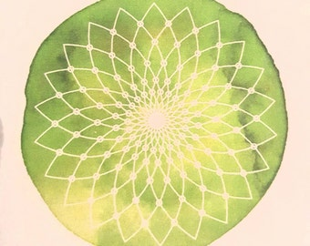 Green Mandela Sticker