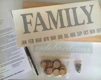 Family Birthdays Board DIY Kit