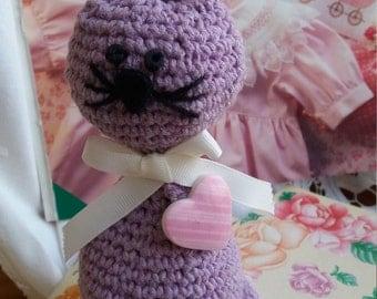 Purple Kitty amigurumi