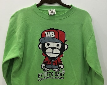 Vintage 90's UITTG Baby Design Skate Sweat Shirt Sweater Varsity Jacket Size M #A14