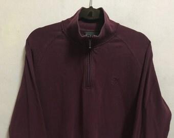 Vintage 90's Timberland Dark Brown Classic Design Skate Sweat Shirt Sweater Varsity Jacket Size M #A469