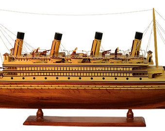 Hand Built Model Of The Olympic Ship