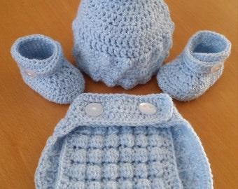 Crochet set for baby boy/girl