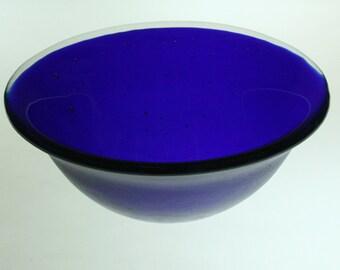 15 cm Small Bowl - deep cobalt blue