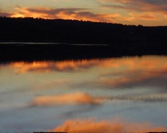 Sunrise Over a Brookfield, MA Pond Photograph