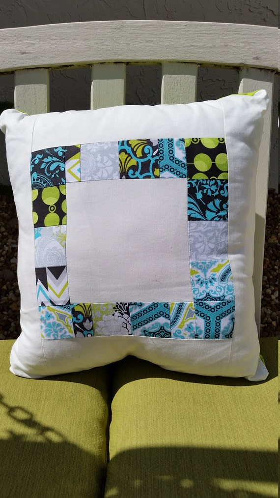 Modern Patchwork Pillow : Modern Patchwork Pillow