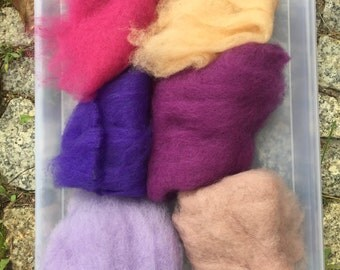 75% OFF! Wool Roving Carded Merino 6 Colors - Felting Spinning Felting Needle Felting Dry Felting Wet Felting Wool Painting 6L4
