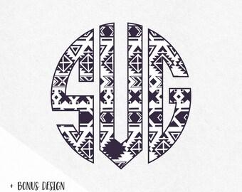 Aztec Tribal Svg Fonts Monogram Font Svg Monograms Alphabet Letters Svg Cricut Files Silhouette Svg Files Svg Designs Svg Vinyl Design