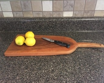 Cherry serving tray, serving tray, cutting board, live edge, live edge serving tray
