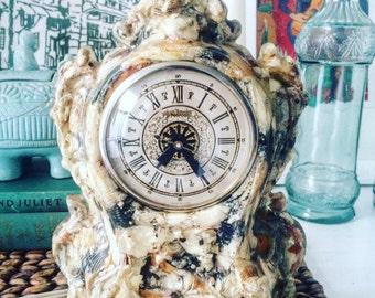 Beachy & Boho Seashell Art Clock